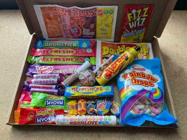 Personalised Old Fashioned Retro Sweet Mix Gift Box hamper Candy Large Gift Box