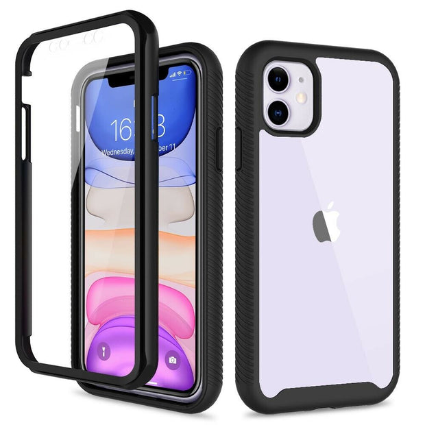 "Full Body Hybrid Clear Shockproof Case For iPhone 12 Pro 6.1"" Cover"