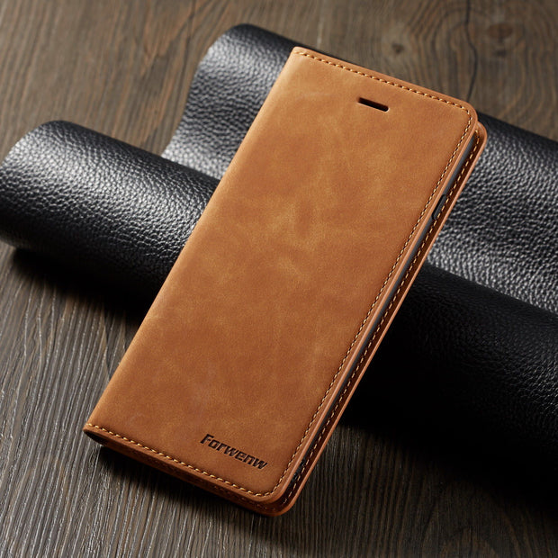 Luxury Leather Wallet Flip Case Cover For iPhone 12 6.1""