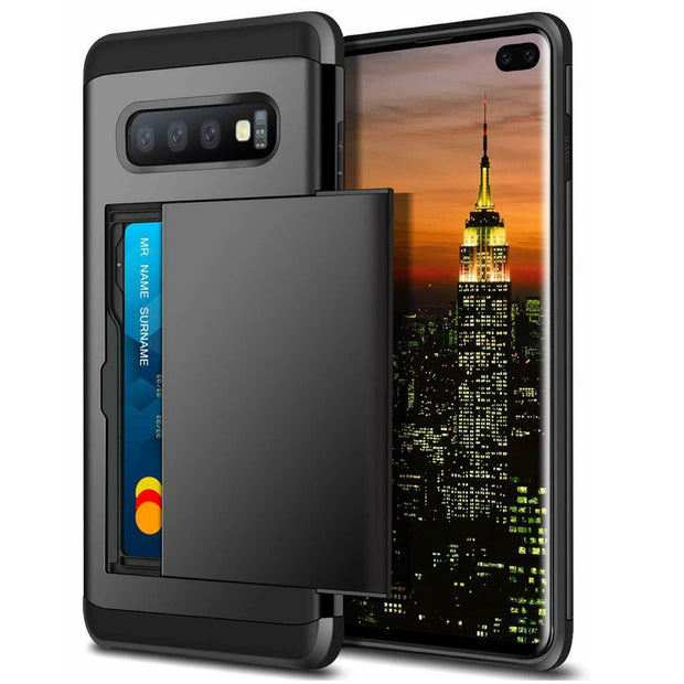 Samsung Galaxy S10e Card Holder Hard Cover Case