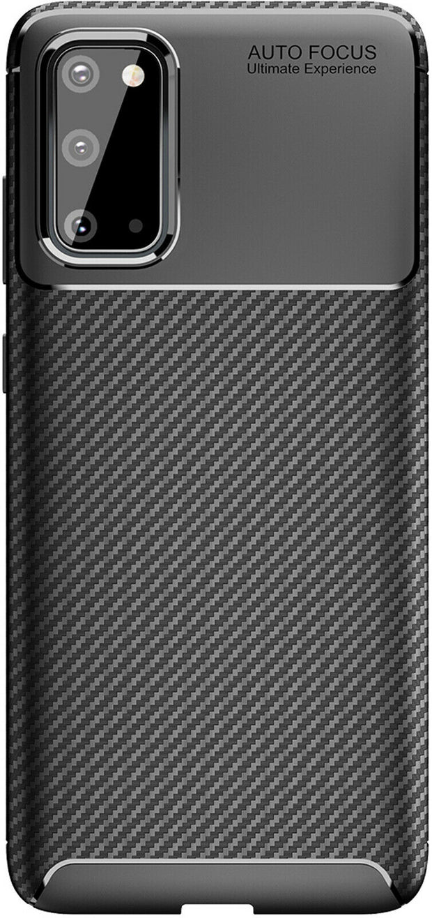 Shockproof Silicone Carbon Fiber Fibre Case Cover For Samsung Galaxy S20 FE