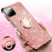 "For iPhone 12 Mini 5.4"" Bling Case Slim TPU Ring Holder Stand Cover"