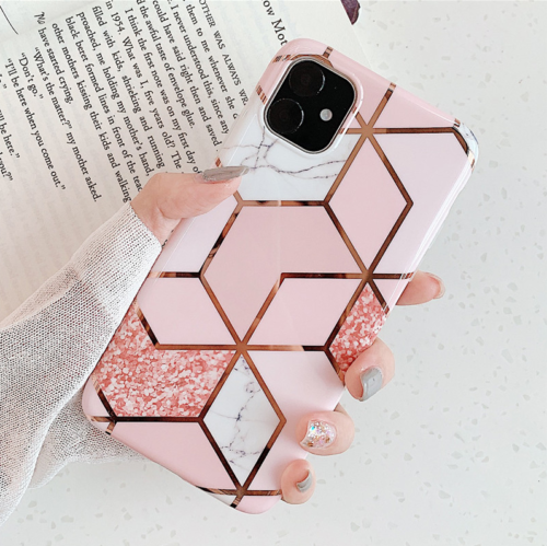 Apple iphone XS Max Marble Silicone Phone Case Cover