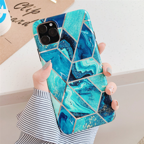 Marble Phone Cover Silicone Case For iPhone 12 6.1""