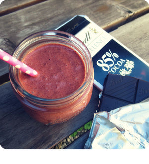 Dark Chocolate Strawberry Smoothie