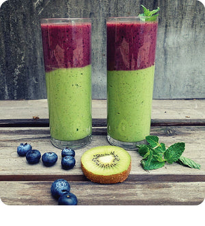 Blueberry Kiwi Mousse Smoothie