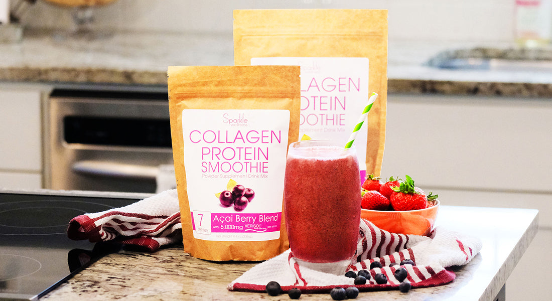 Sparkle Collagen Smoothie Mix with VERISOL collagen peptides - Acai Berry Blend