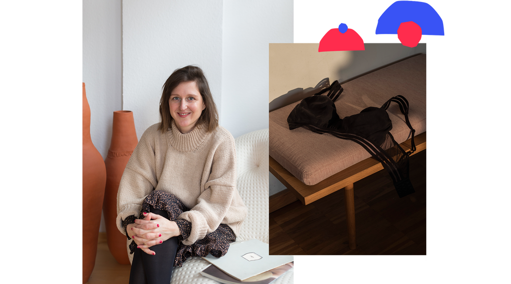 Stefanie Raffelsieper the founder of the stylish, sustainable fair nursing bra that can replace nursing pads