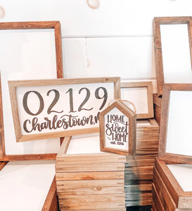 Wood Framed Signs