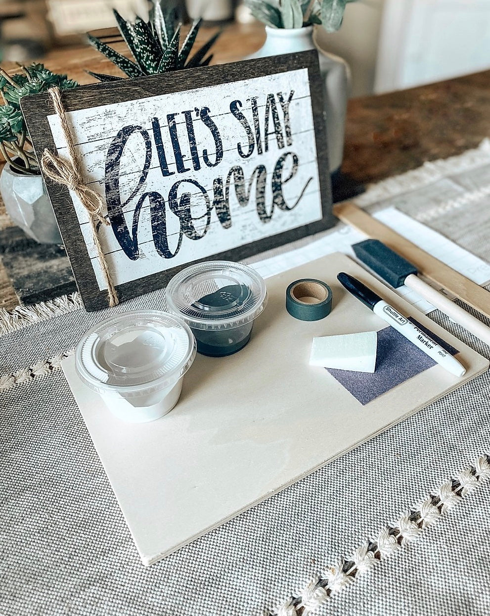 PRIVATE PARTY - DIY at Home Wooden Sign Kit