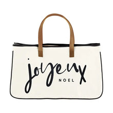 Load image into Gallery viewer, Joyeux Noel Canvas Tote