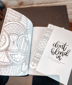 Don't Blend In Doodle Book