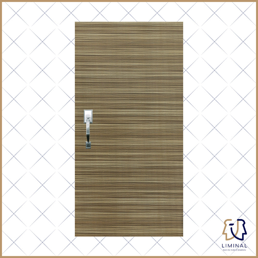 Nogal Woodgrain Laminate Main Door