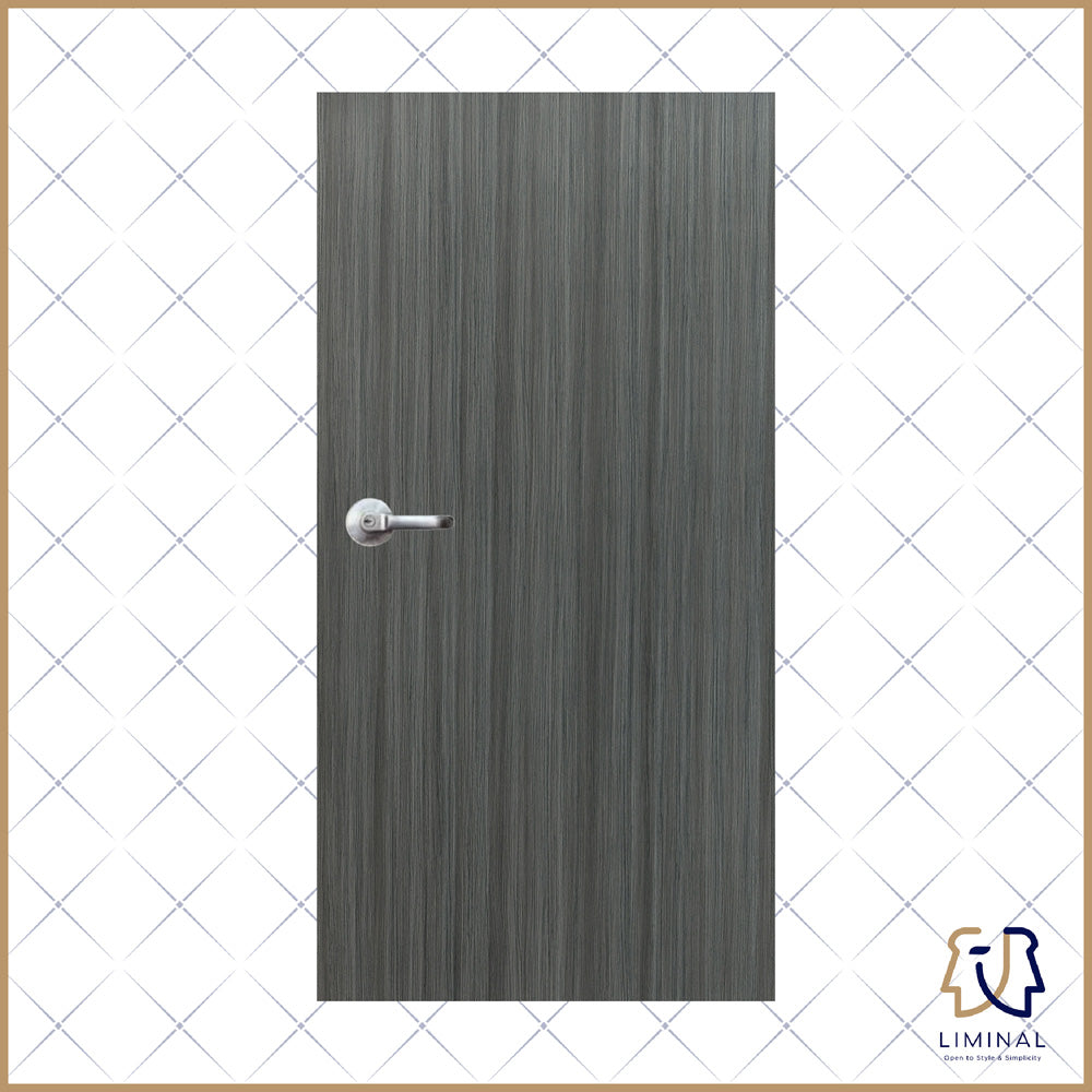 Teak Woodgrain Laminate Bedroom Door