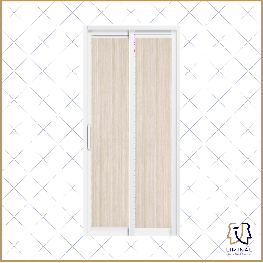 Slide & Swing Bathroom Door (Classic Wood)