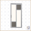 Slide & Swing Bathroom Doors (Medium Wood Mixed Pastel)