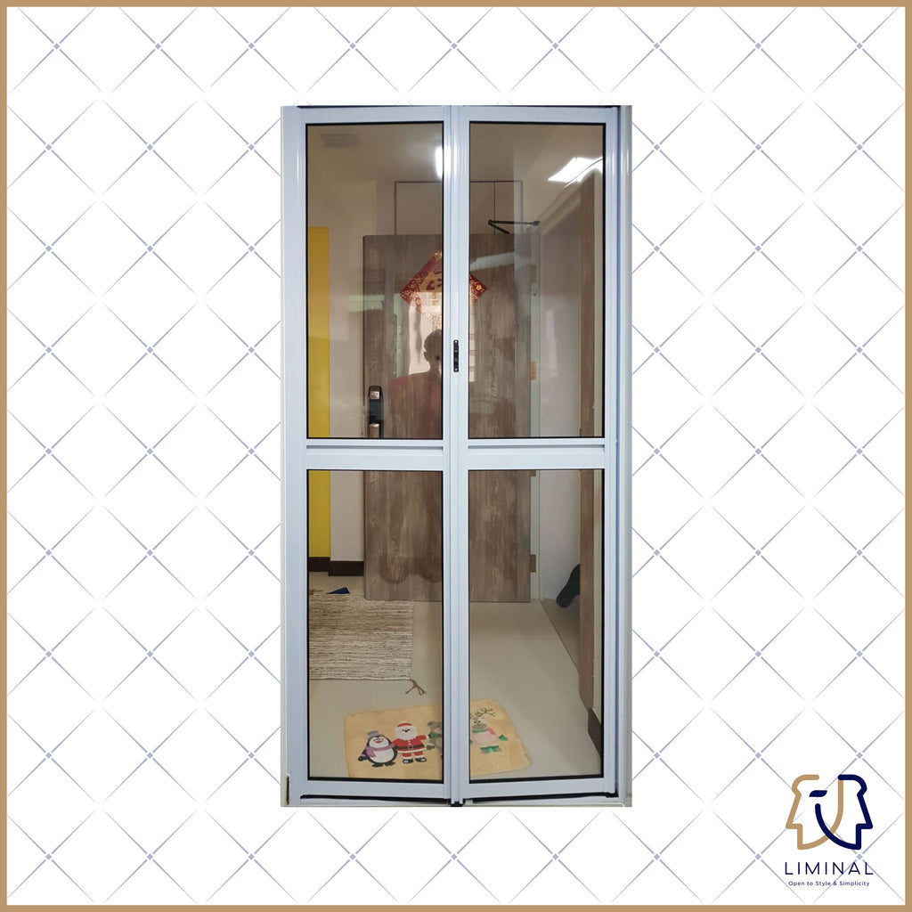 Aluminium Foldable Clear Kitchen Doors