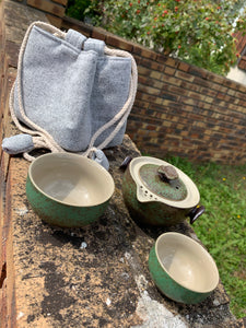 Duo Travelling Gaiwan - Green and Brown