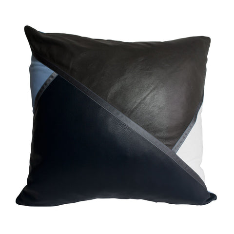 CROSS CUSHION in BLACK & PEARL BLUE