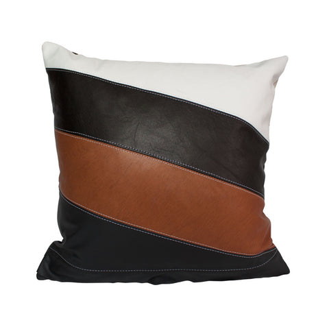 WRAP CUSHION in BLACK & TAN