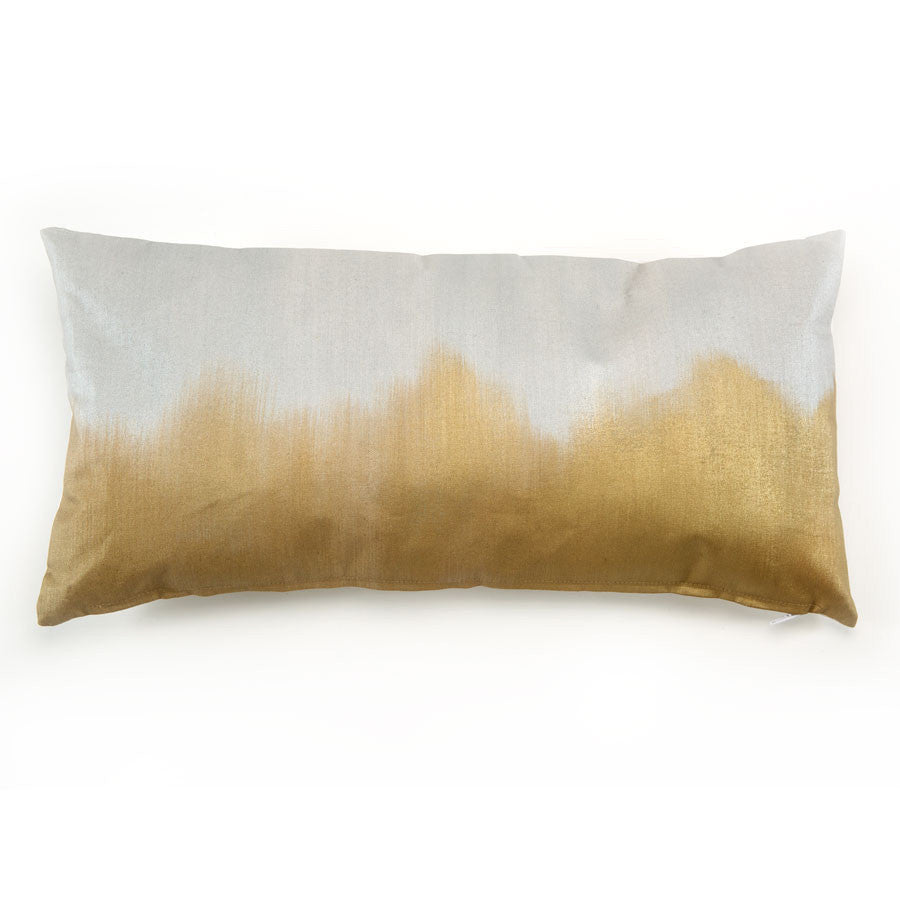 Bronze over Silver Alloy Lumbar Pillow