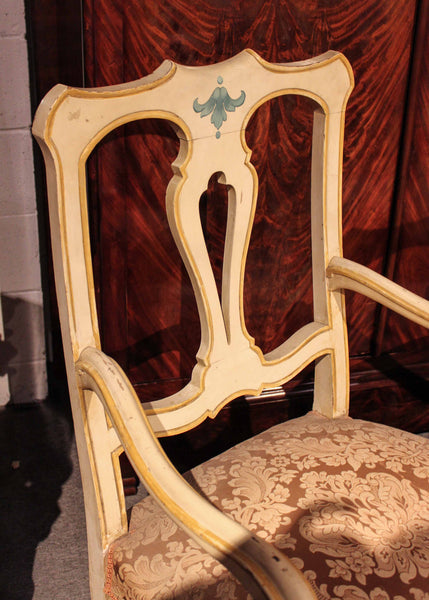 Pair of Antique Italian Painted Armchairs