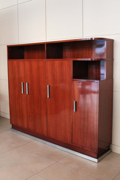 Rosewood Art Deco Desk and Cabinet