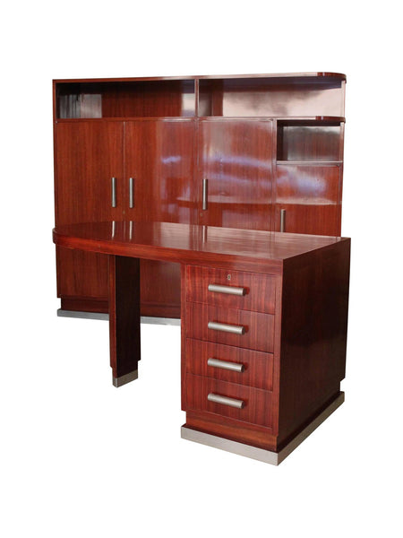 Art Deco Desk and Cabinet