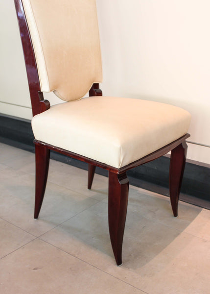 French Art Deco Dining Chairs, Set of Six