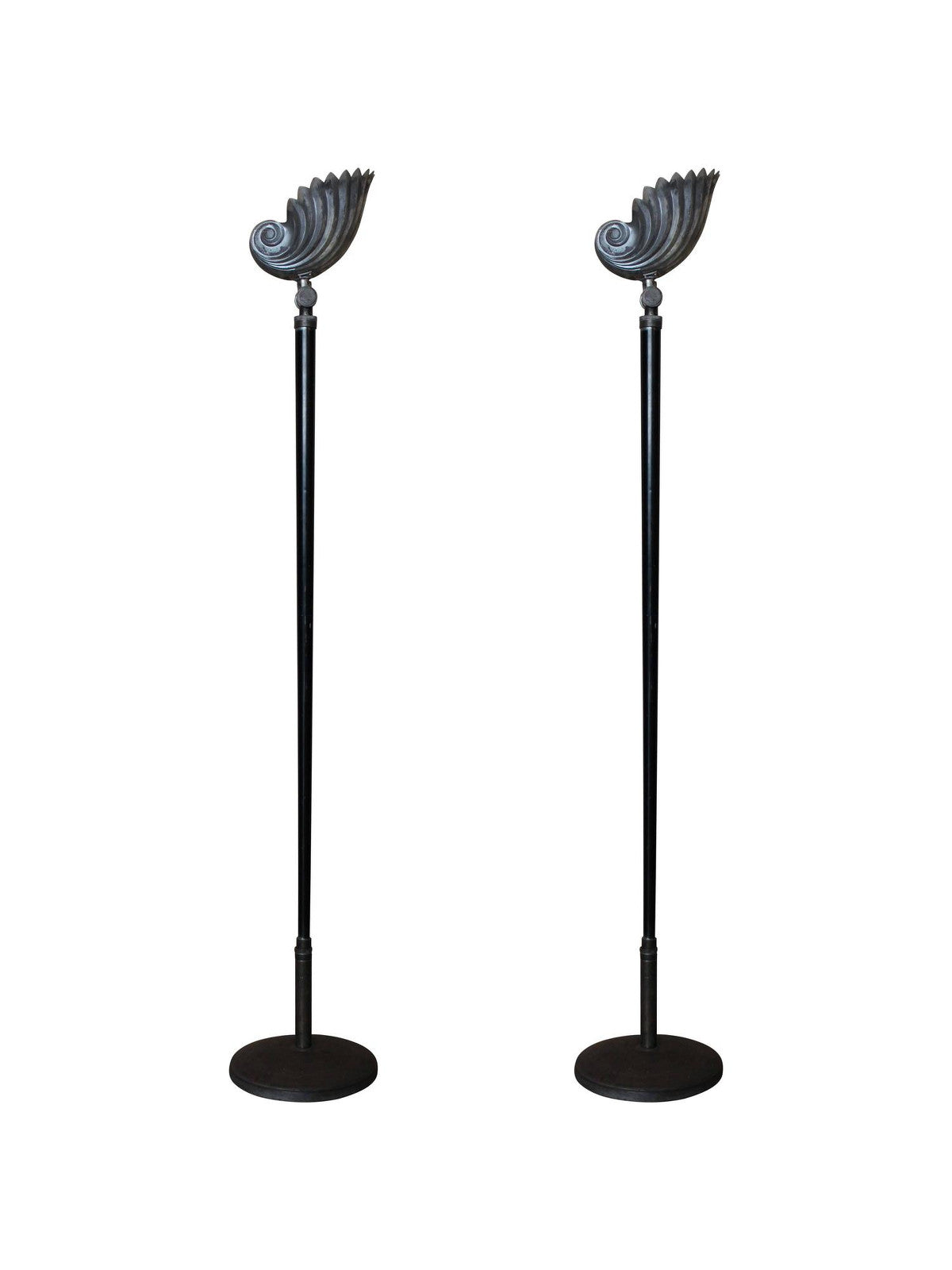 Art Deco Nautilus Shell Floor Lamps