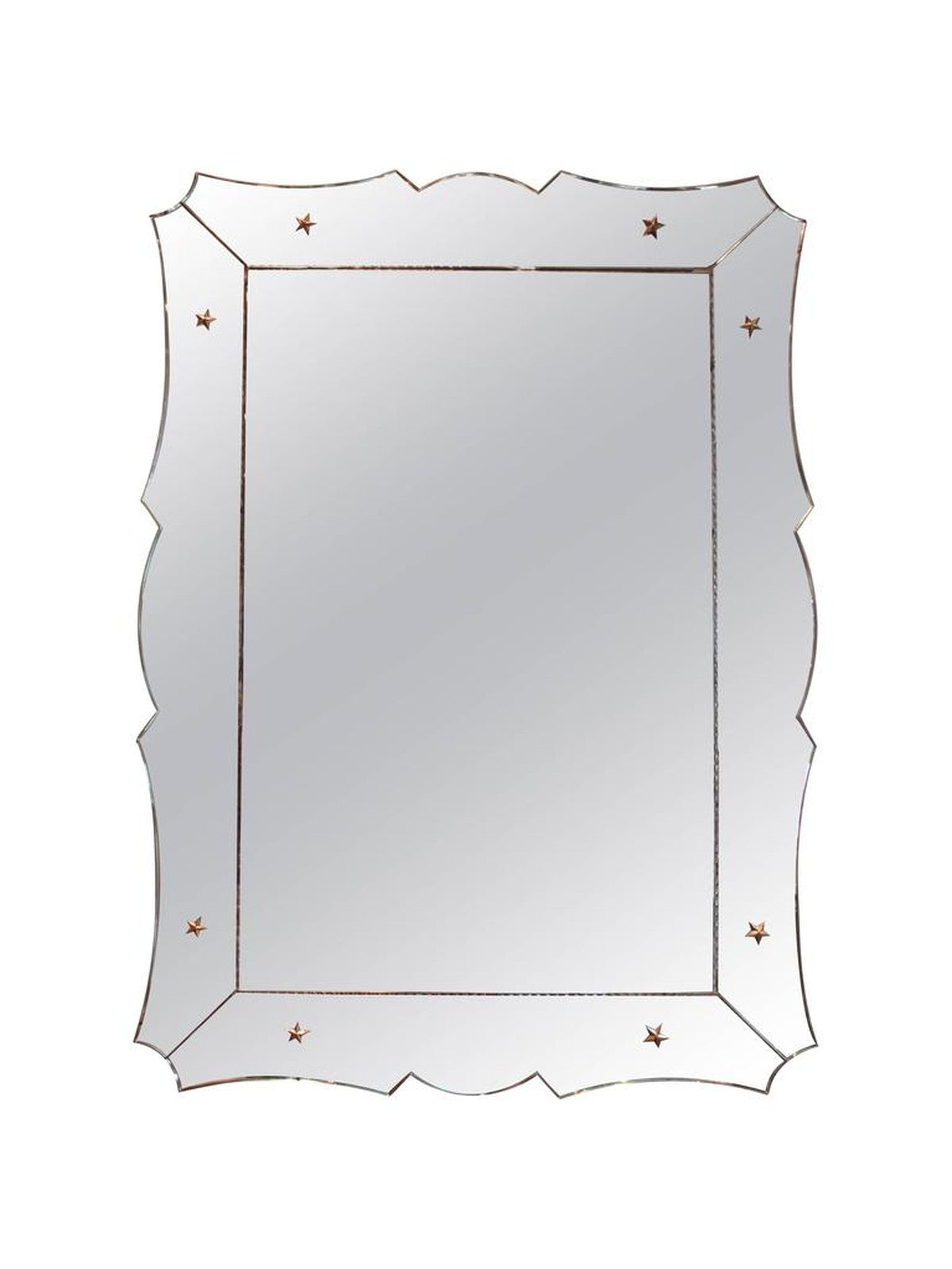 Venetian Mirror with Scalloped Frame