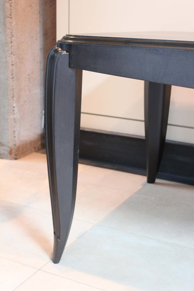 Ebonized Dining Table in the Manner of Andre Arbus