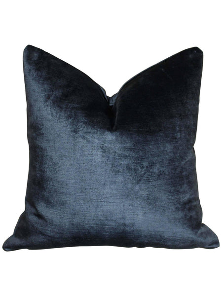 Navy Velvet Pillow by Amanda Hamilton