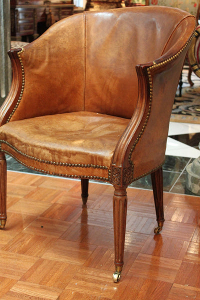 Carved Sheraton Desk Chair, 18th Century