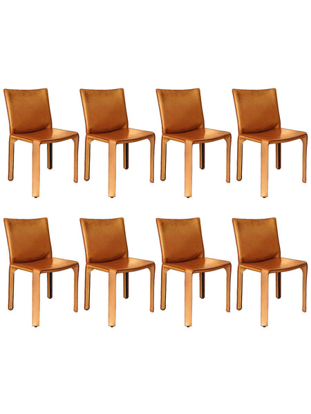 Cab Chairs by Mario Bellini for Cassina, Set of 8