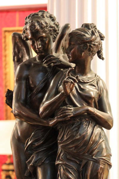 Cupid and Psyche Bronze by Jean Jules Salmson