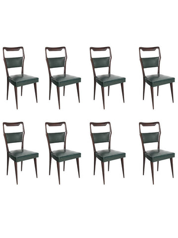 Dining Chairs Attributed to Vittorio Dassi, Set of Eight