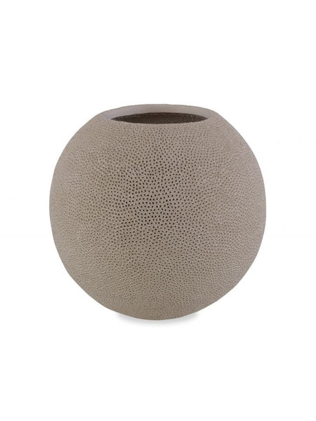 Pierced Round Earthenware Vase