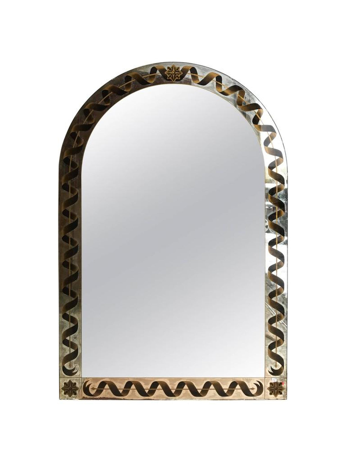 Églomisé Mirror with Ribbon Motif