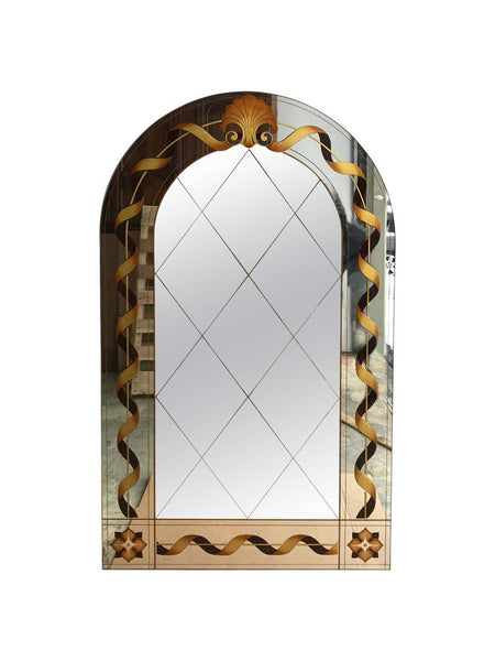 Églomisé Mirror with Shell Motif