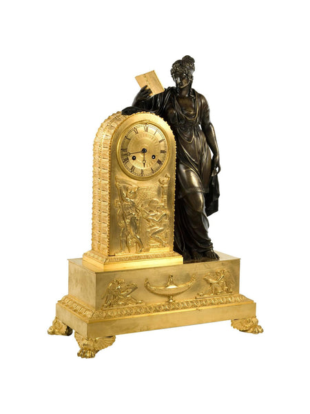 French Empire Clock of Clio
