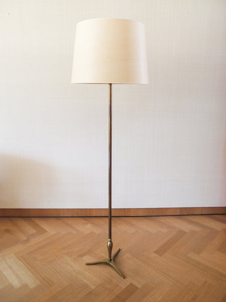 Brass Floor Lamp Attributed to Gino Scarpa