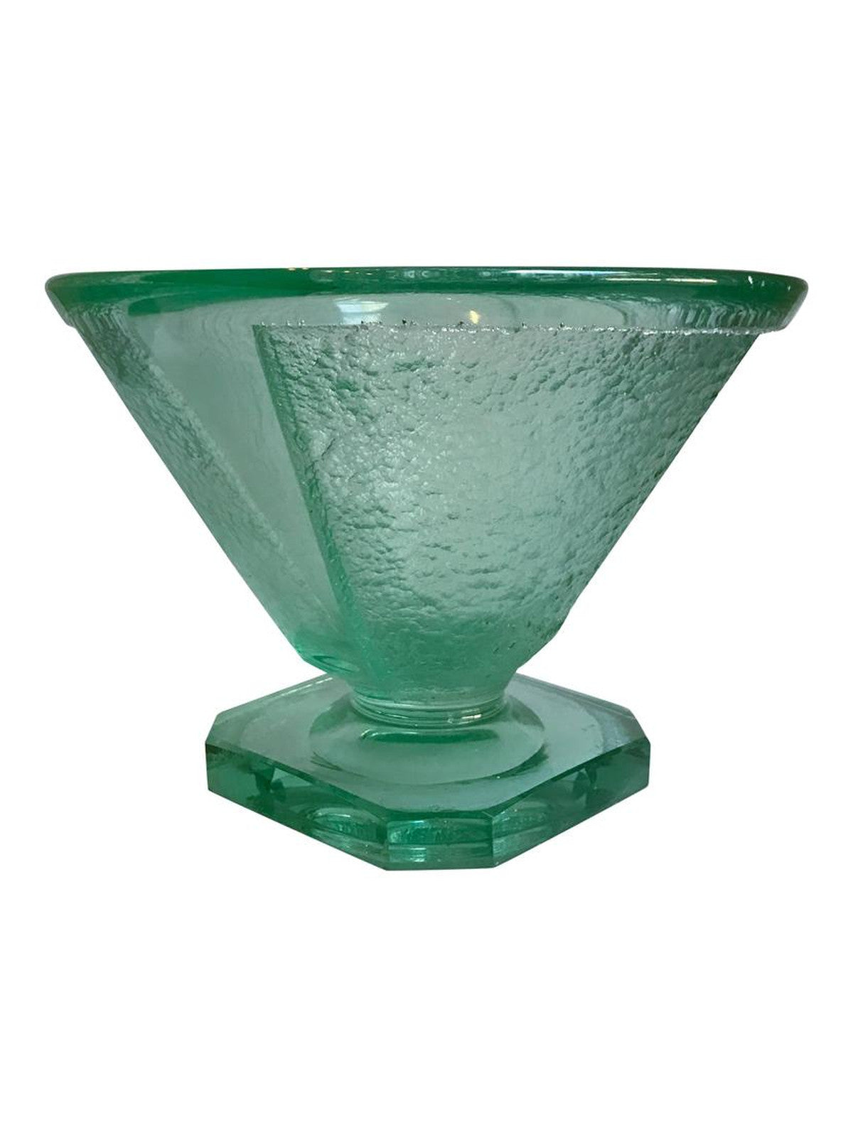 Green Bowl Attributed to Daum