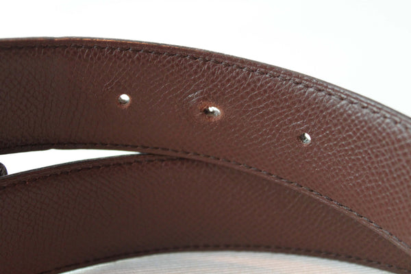Hermes Gold H Belt Vintage Leather