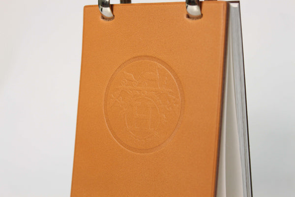 Hermès Brown Leather Notepad