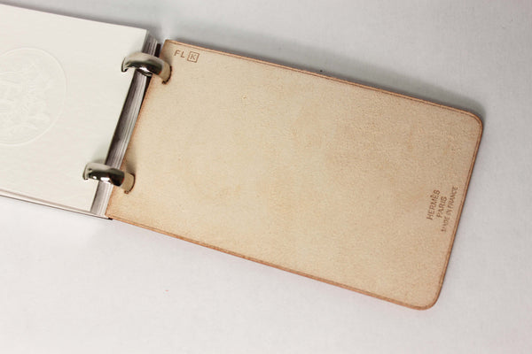 Hermes Leather Notepad
