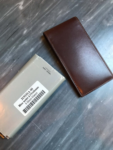 Hermès Leather Note Pad and Pen