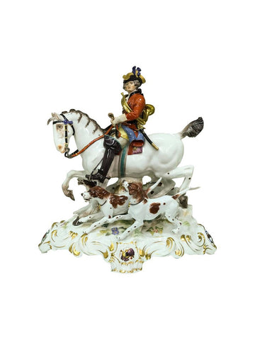 Huntsman and Hounds by Meissen