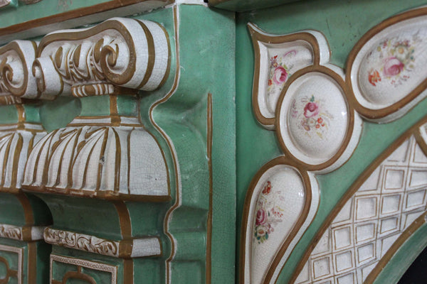 Mason's Ironstone Chimneypiece Hand Painted Detail