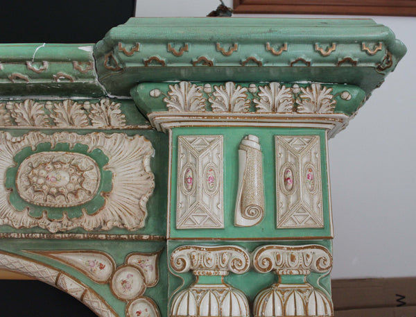Mason's Ironstone Chimneypiece Detail